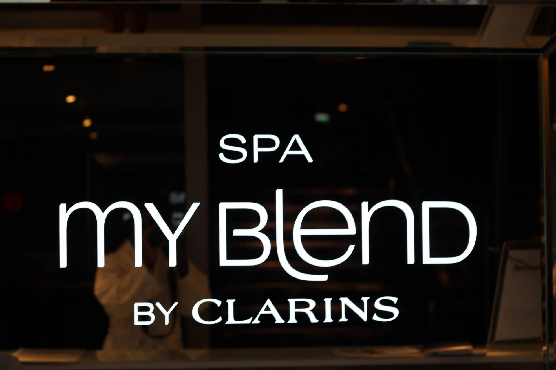 mon soin eclat fraicheur du teint au spa my blend by clarins. Black Bedroom Furniture Sets. Home Design Ideas