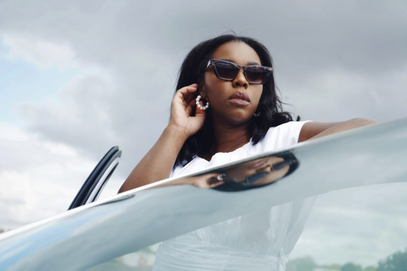 black woman wearing sunglasses from &otherstories